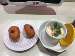 My favorite Tofu & egg custard at Uobei