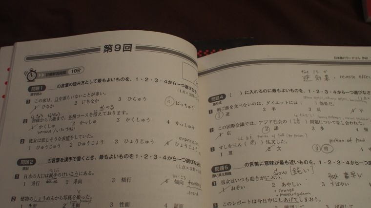 JLPT Vocabulary workbook