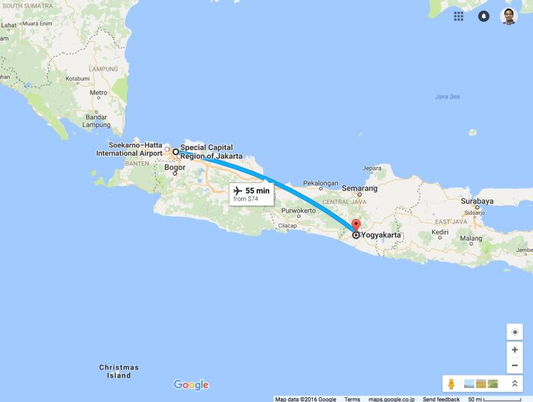 Jakarta to Jogjakarta