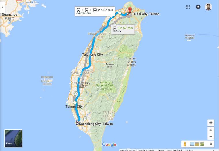 Kenting to Taiwan